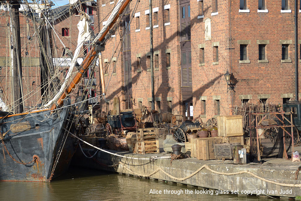Alice through the Looking Glass set at Gloucester Docks 2014