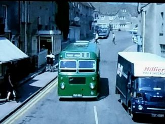 Single decker bus in Minchinhamption in 1971