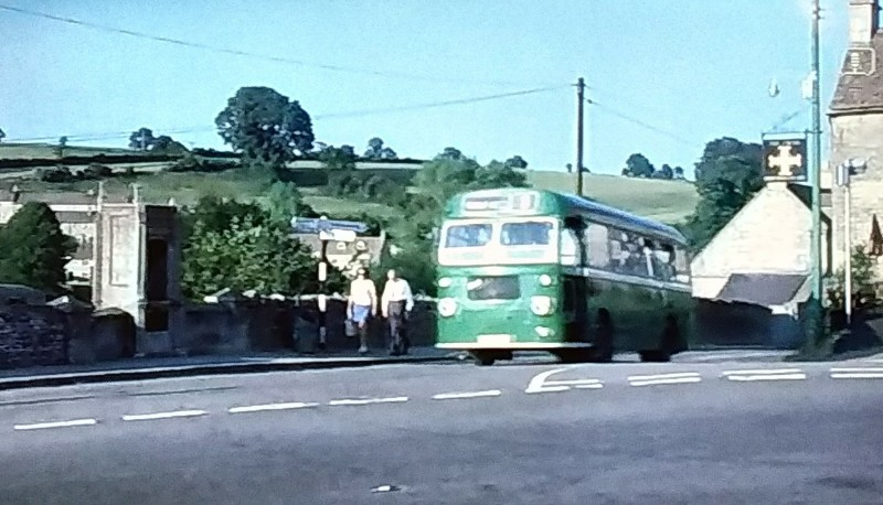 Single decker bus in Avening 1971