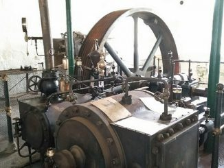 Twin cylinder steam engine at st marys mill