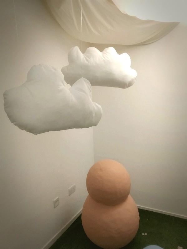 Art installation about being under canvas