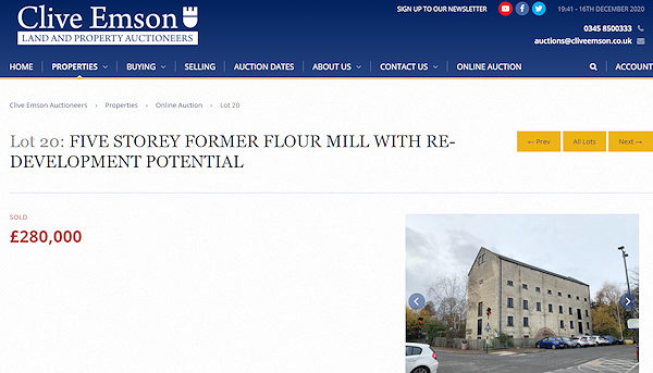 Kimmins Mill sold at Auction