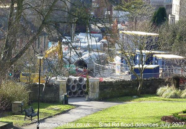 Slad Flood defences Feb 2010