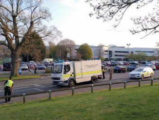 bomb disposal team set of bomb in stratford park in Stroud
