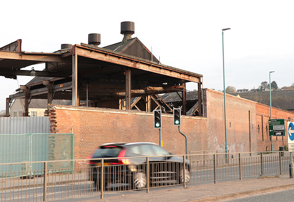 demolishing building at the Avocet trading estate in Stroud