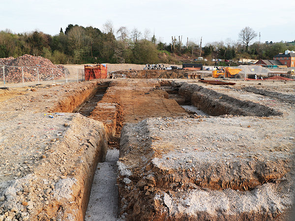 Foundations being dug at new Lidl supermarket site in Stroud