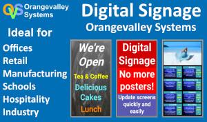 orangevalley systems digital signage advert