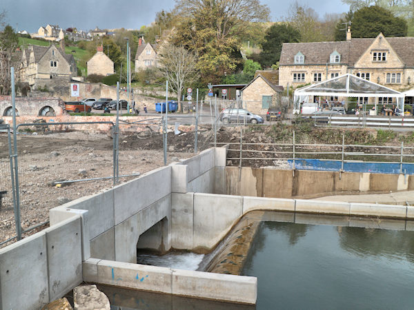 waterworks at the new rooksmore mills housing development