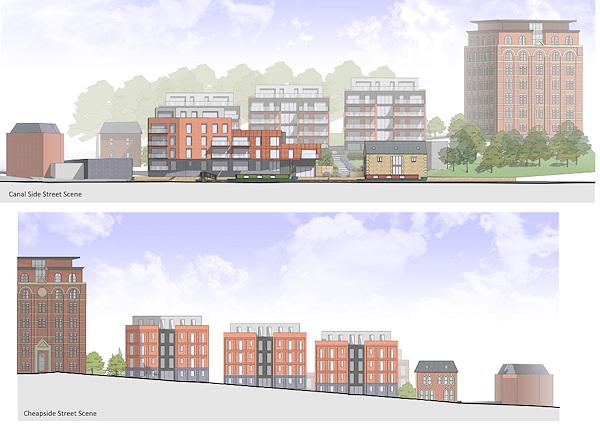 Artists impression of the Wallbridge development in Stroud